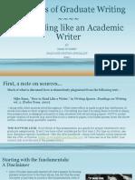 Essentials of Graduate Writing 2