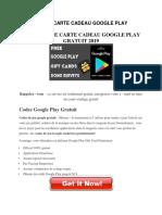 Obtenir Une Carte Cadeau Google Play Gratuit 2019