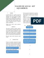 Test analisis de agua Kit Aquamerk