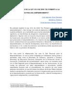 Breve Analisis de La Ley 1014 de 2006