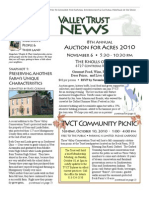 Fall 2010 Valley Trust Newsletter, Three Valley Conservation Trust