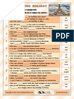 A Sightseeing Holiday in Paris Using Irregular Ver Fun Activities Games Grammar Drills Role Plays Dra 24693