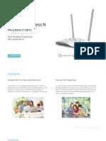 TL-WA801ND 4.0&5.0 Datasheet
