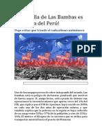 La Batalla de Las Bambas Es La Batalla Del Perú