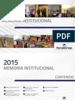 Memoria FENACREP 2015