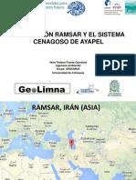 Presentación Convención Ramsar, caso de estudio ciénaga de Ayapel Colombia