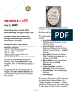 Moraga Rotary Newsletter July 9 2019