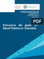 Estructura de gasto de salud en colombia