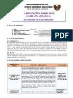 Programación Anual de Ciencias Sociales de 2do secundaria