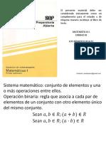 Matemáticas 1 Unidad 3 Los números reales