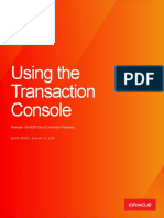 Release 13 Using the Transaction Console