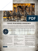 Chaos Marauder Horsemen AoS Warscroll