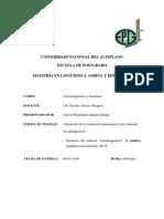 Desarrollo de Evaluacion Autoinstructiva Sociolinguística y Semiótica