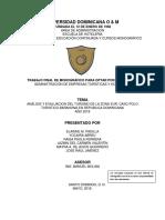 ANÁLISIS Y EVALUACION DEL TURISMO DE LA ZONA SUR CASO POLO TURISTICO BARAHONA EN REPUBLICA DOMINICANA AÑO 2018