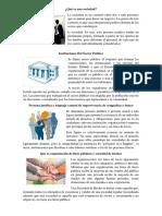 Qué Es Una Sociedad,Instituciones Del Sector Publica.
