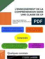 Lenseignement de La Compréhension Dans Une Classe de CP(1)