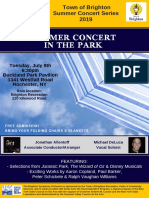 Brighton Symphony Summer Flyer 2019