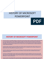 History of Microsoft Powerpoint