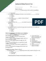 Q RW Placement Test