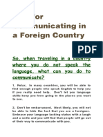 Tips for Communicating in a Foreign Country.rtf