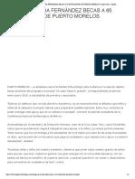 ENTREGA LAURA FERNÁNDEZ BECAS A 65 ESTUDIANTES DE PUERTO MORELOS _ Jorge Castro - Digital