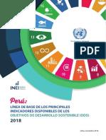 Linea de Base de Los Principales Indicadores Disponibles ODS INEI 2018