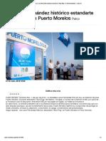 """Iza Laura Fernández histórico estandarte """"Blue Flag"""" en Puerto Morelos - Lado.mx"""