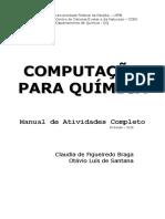Computao Para Qumica Manual de Atividades