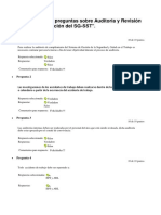 Cuestionario de Preguntas Sobre Auditoria y Revisión Por La Alta Dirección Del SG
