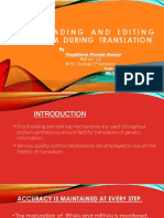 Presentation 1 Proofreading Mechanism
