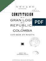 Constitución de la Gran logia de Colombia  1920