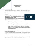 Especificaciones Técnicas Galpón Copiapó