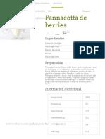 Pannacotta de Berries