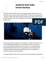 Ericsson to Build Its First Fully-Automated Smart Factory