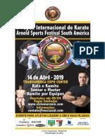 7º Arnold Classic South America - Karate - Convite