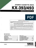 Yamaha KX-393, 493 Service