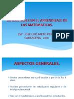 trastornos del aprendizaje matematico.