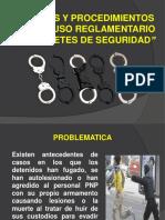 Normas y Procedimientos Para El Uso Reglamentario de Grilletes de Seguridad - Dirincri Pnp