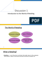 Retail Discussion 1 - Intro