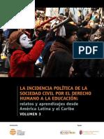 LA INCIDENCIA POLÍTICA DE LA SOCIEDAD CIVIL POR EL DERECHO HUMANO A LA EDUCACIÓN