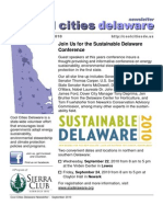 September 2010 Cool Cities Deleware Newsletter