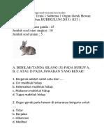 las 5 SD Tema 1 Subtema 1 Organ Gerak Hewan Dan Kunci Jawaban.docx