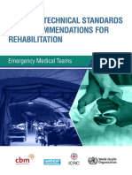 Technical standards and recommendation for rehabilitation
