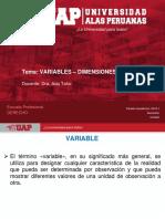 1. Variables, Dimensiones y Objetivos