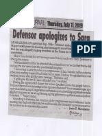 Peoples Journal, July 11, 2019, Defensor apologizes to Sara.pdf