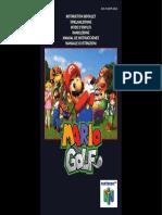 Manual Nintendo64 MarioGolf En