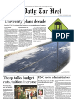 The Daily Tar Heel for November 9, 2010