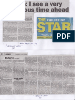Philippine Star, July 11, 2019, Duterte I see a very dangerous time ahead.pdf