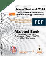 Abstract book NanoThailand2016