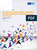 Project Review Non Formal Education Activities Skaramagas Refugee Camp Greece